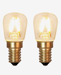 Star Trading Decoration LED Klar filament lampa E14 1,3W (15W) 2-pack