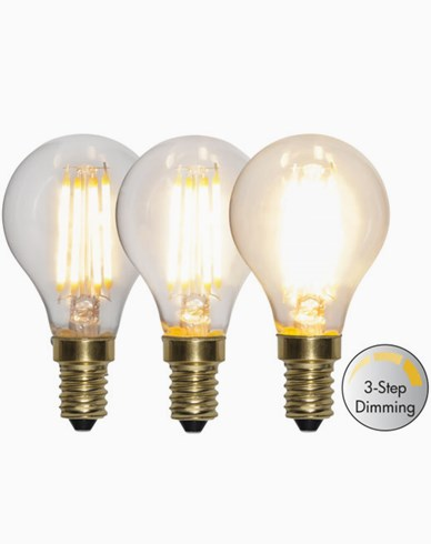 Star Trading LED-lampa Klot 3-stegs 4W 2100K E14