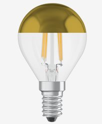 Osram LED-lampa CL P 37 Mirror Gold E14 4W (37W)