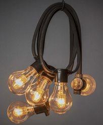 Kop Ljusslingor Med Lampor Och I Led Lysman