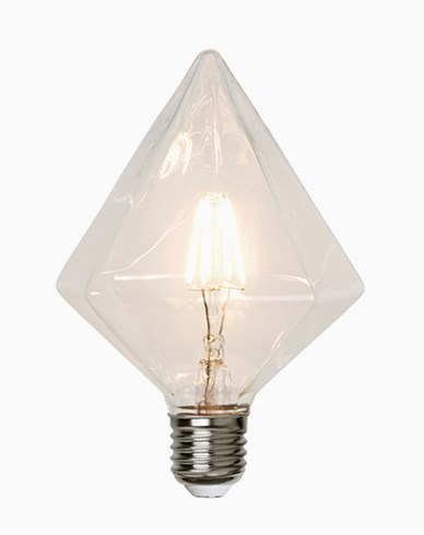 Star Trading Illumination LED filament Diamantformad lampa E27 3,2W (30W) Dimmerkomp.