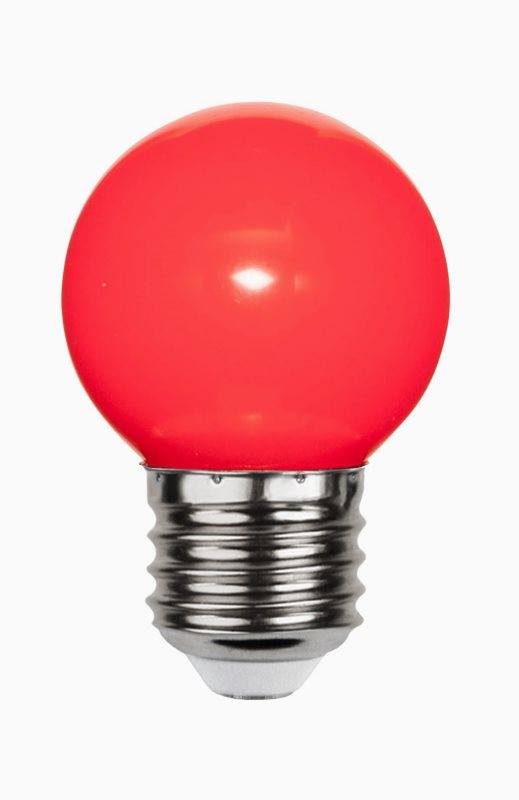 Star Trading Decoration LED Klotlampa Röd 1W E27 Lysman